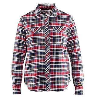 Blakläder 320911369920X Tamaño XXL 3X L'Mujeres Camisa de' de franela, color blanco y negro