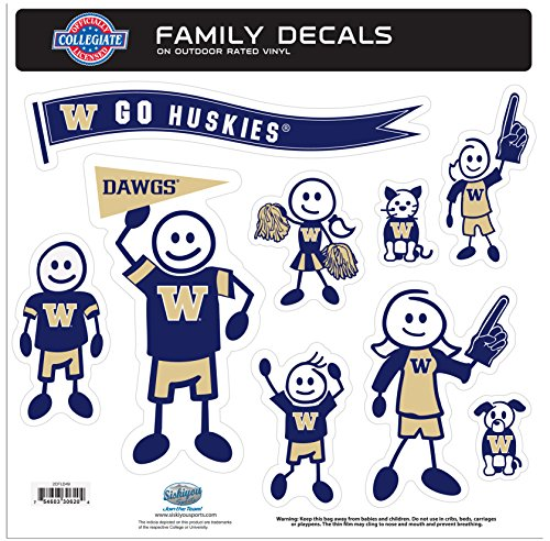 (NCAA Washington Huskies Family Character Decals, Large)