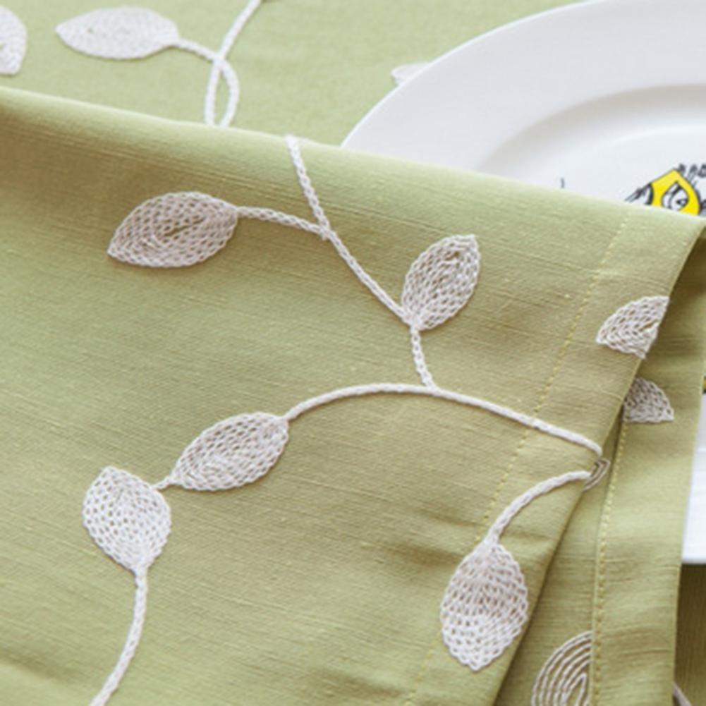 JIAAE Europeo Semplice Ricamato tovaglia Pastorale Vento Cotone Tessuto tovaglie per la casa e la Cucina, verde, 140  140cm