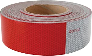 GG Grand General 92290 DOT-C2 Conspicuity Tape 11 inches Red/7 inches White, 2 inches X 150 feet Roll