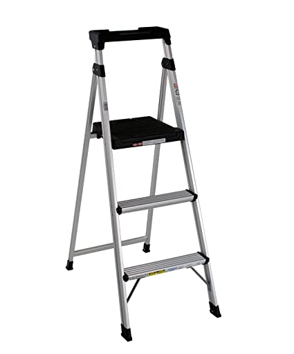 Cosco 20-552ABL Lite Solution Aluminum Step Ladder, 5-Foot ...