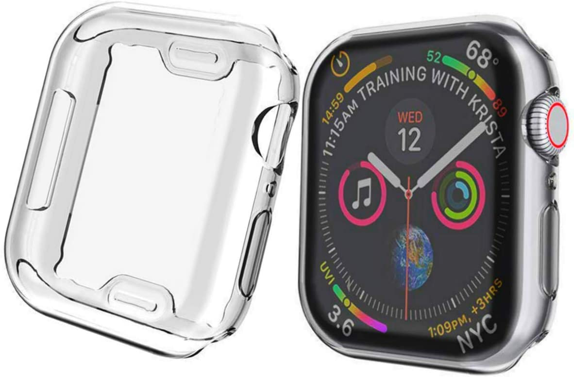 D & K Exclusives CaseFit Protective Bumper Compatible with Apple Watch 42mm Wrist Wearable Device, Built-in Screen Protector Cover Replacement for iWatch Series 3, Series 2, Series 1