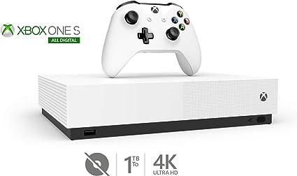 Microsoft - Consola Xbox One S 1TB All-Digital Edition con mando ...
