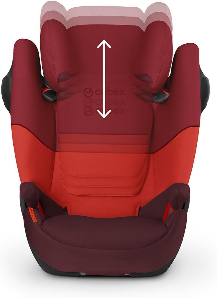 Rumba Red sin ISOFIX Silla de coche grupo 2//3 Solution M SL 15-36kg Cybex desde los 3 hasta los 12 a/ños aprox.