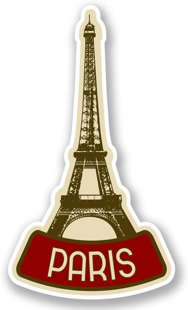 2 x Paris France Vinyl Sticker Laptop Travel Luggage #4619