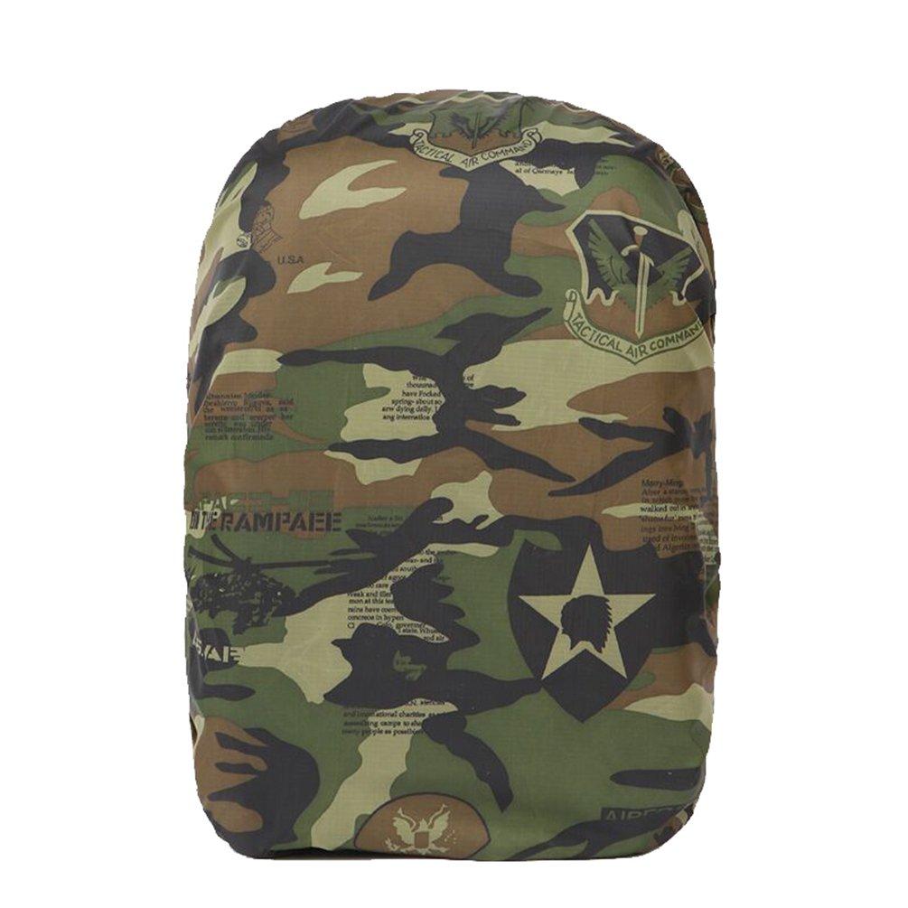 Durable Camouflage Coupe-Vent Antipoussi/ère Couvre De Sac pour La Randonn/ée Camping Voyager Activit/és De Plein Air Camouflage Blanc Yuanu Portable Sac /À Dos Housse De Pluie 25L-40L