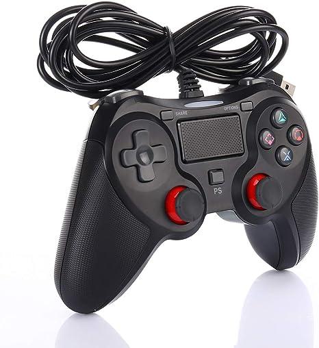 Mando con Cable compatible con PS-4, Controlador Dualshock Gamepad ...