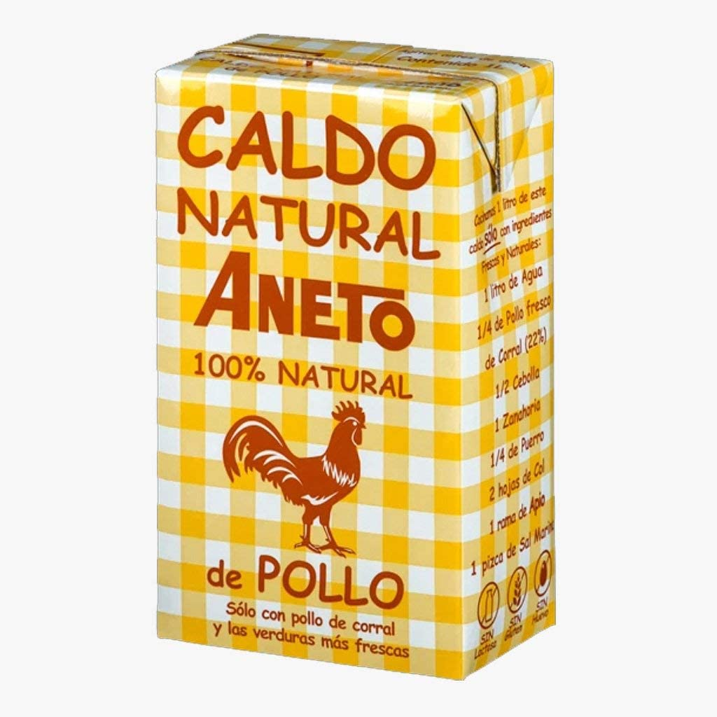 Aneto - Caldo Natural De Pollo 1 L: Amazon.es: Alimentación y bebidas