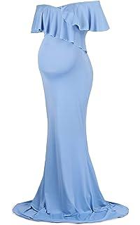 Molliya Mujer Embarazada Largos Vestido,Volante Fruncido Dress Fotográficas de Maternidad Apoyos De Fotografía Fiesta