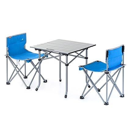 ZZHF Mesas y sillas Plegables Silla de Pesca portátil ...