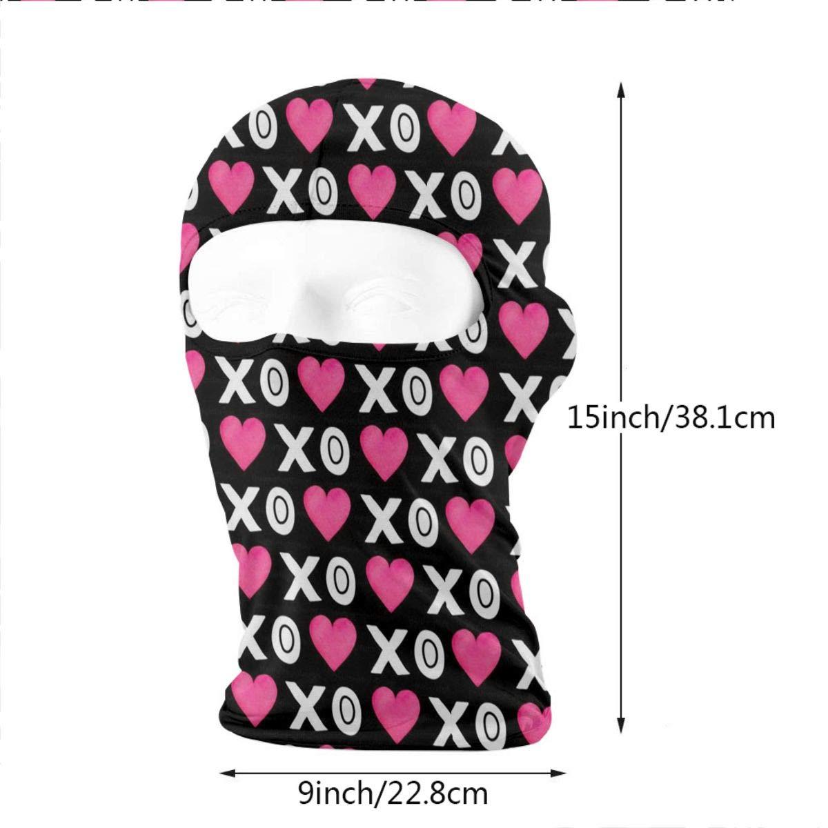 Gomop Ski Cap XO Love Full Face Mask Wind-Resistant Face Mask