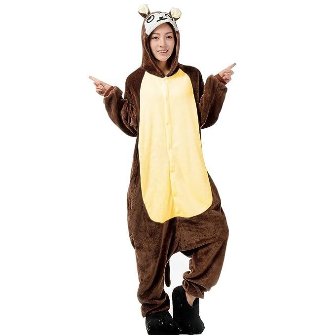 Aivtalk Pijamas de Franela para Hombre Mujer Cartoon Animal Ropa de Dormir Costume Regalo Halloween Carnaval