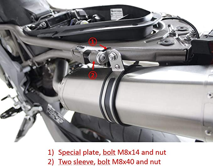 Dominator Exhaust Endschalldämpfer Auspuff Aprilia Shiver 750 Db Killer Motorrad