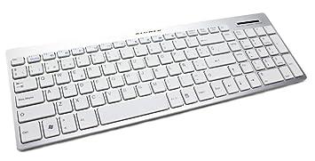 Teclado Multimedia Aluminio Blanco Kloner