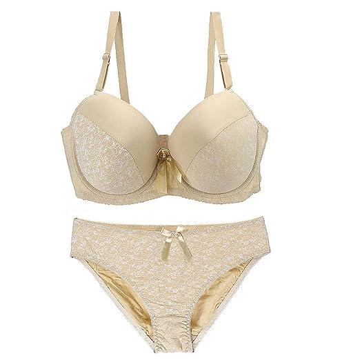 e9165b190 ETOSELL Women s Plus Size Bra and Panty Set Push up Underwire Bombshell Bra  Sets