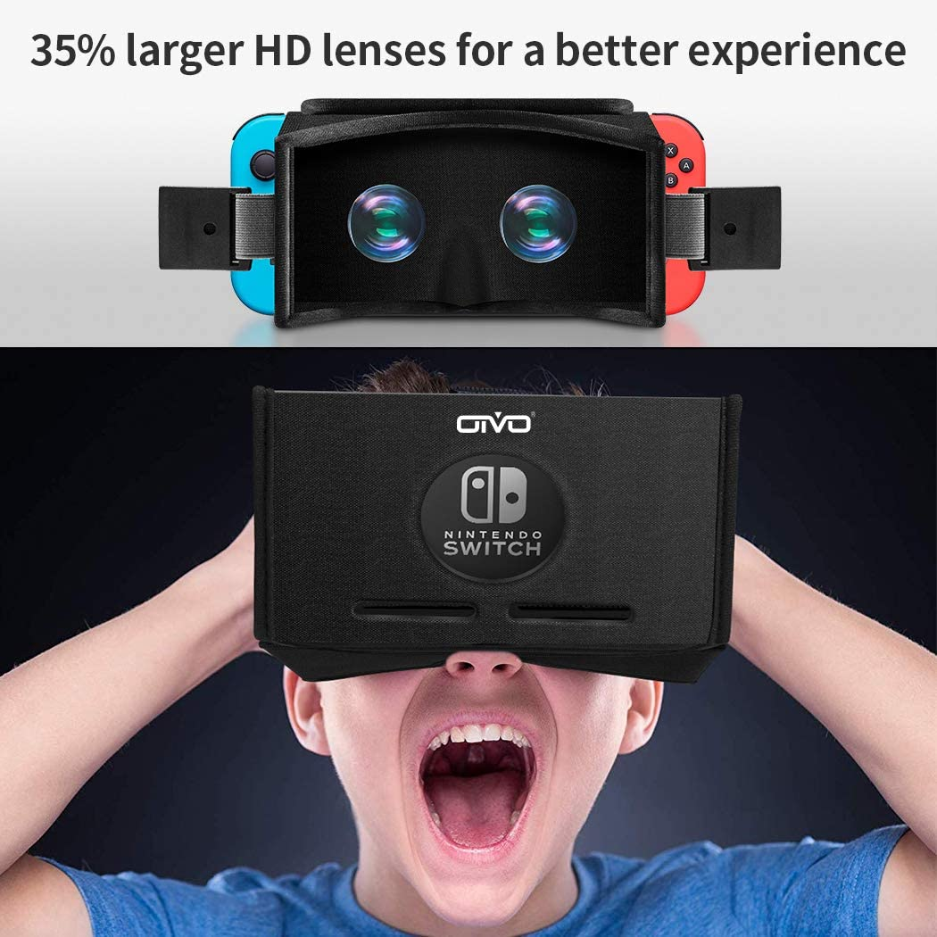 Auriculares VR para Nintendo Switch, OIVO 3D Labo Virtual Reality ...