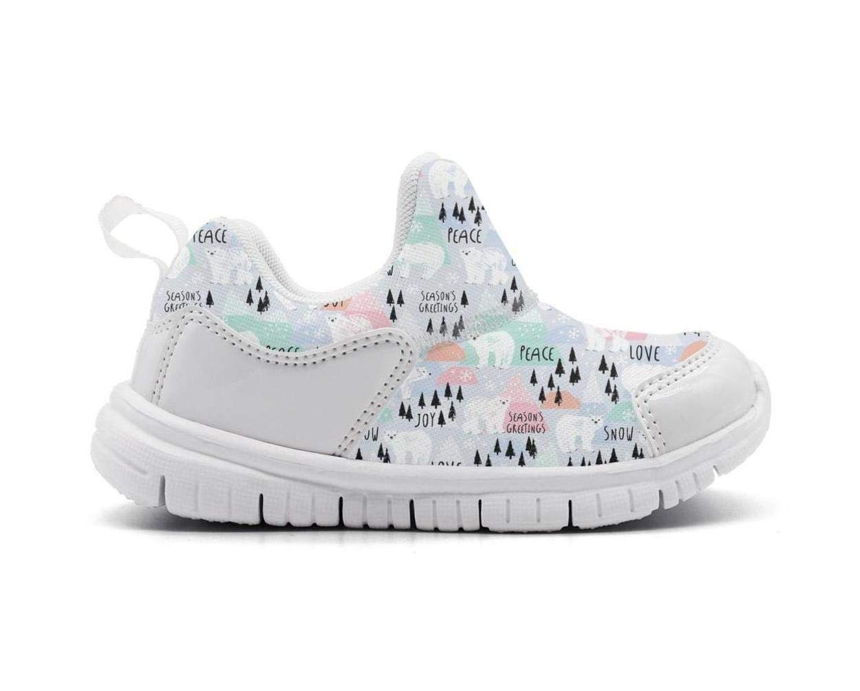 ONEYUAN Children Woodland Peace Love Magic Bears Kid Casual Lightweight Sport Shoes Sneakers Walking Athletic Shoes