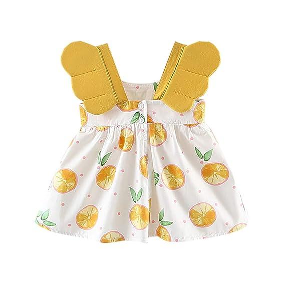 Sannysis Vestido Bebe niña alas Angel Vestidos Naranjas ...