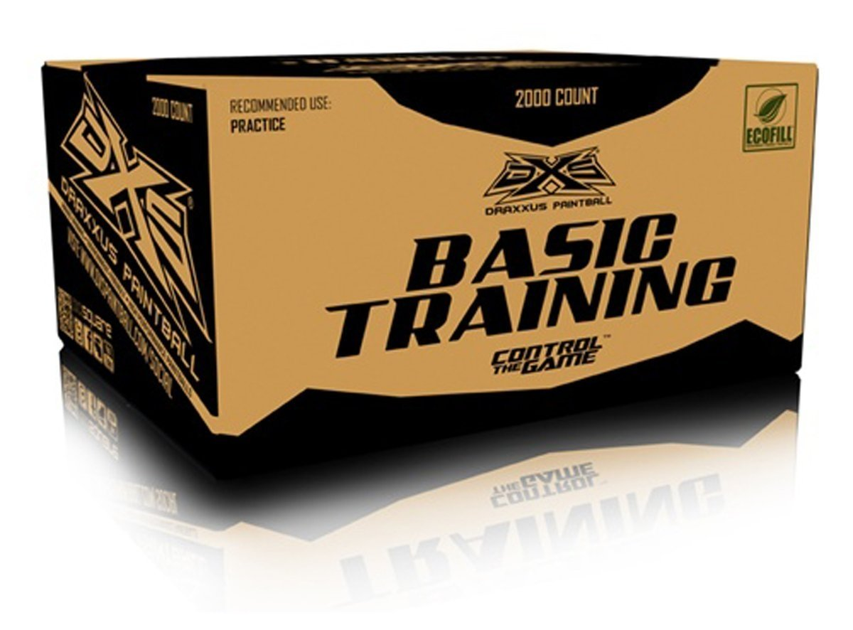 Draxxus DXS Basic Training Paintballs - 2000 Rounds by GI Sportz