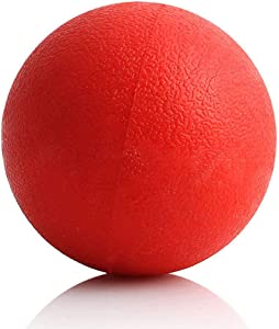 SunGrow Ultra Bouncy Ball for Dogs, 3.5 Inches, Daily Exercise Herding Ball for Pitbull and Doberman, for Teething Stage, Strong Rubber Ball, Bright Red Color, Entertainment for Hours