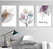 WSTDSM Sencillo, Pequeño, Fresco, Fresco, 3 Unidades, Decorativa, Cuadro Modular, Arte De La Pared, Lienzo De para Sala De E