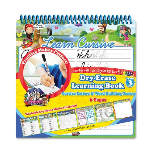 Board Dudes Dry Erase Learning Activity Book - Cursive Letters and Word Building Games (11210UA-4)