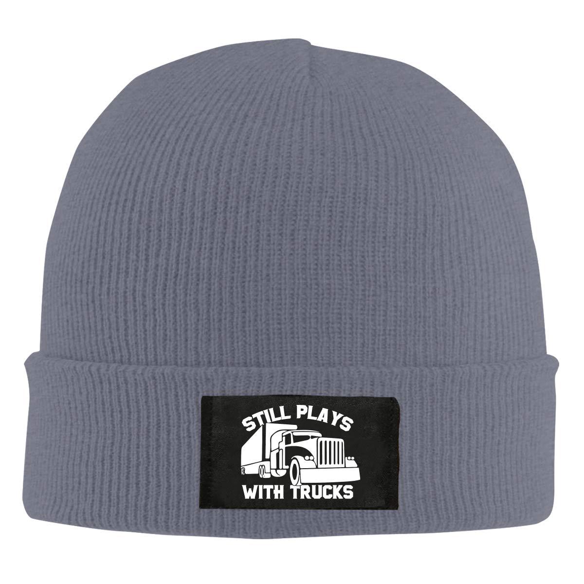 Still Plays with Trucks Truckers Unisex Warm Winter Hat Knit Beanie Skull Cap Cuff Beanie Hat Winter Hats