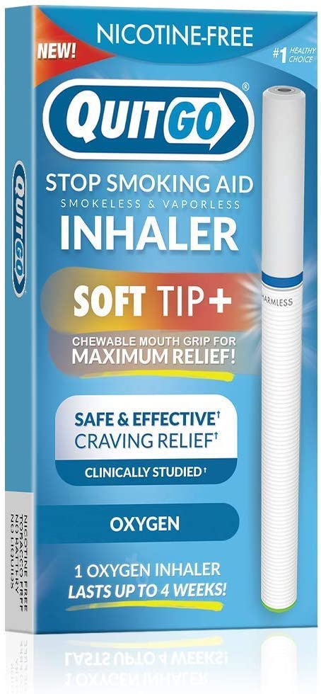 Quit Smoking Aid Oxygen Inhaler + Soft Tip Chewable Filter to Help Curb Cravings, Nicotine Free Non-Addictive Stop Smoking Support & Oral Fixation Relief (1 Pack, Oxygen Inhaler)