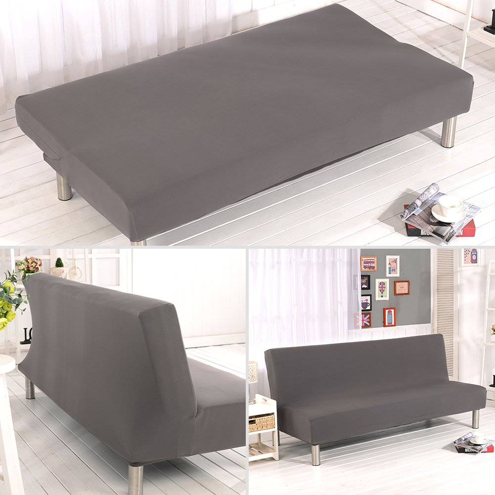 Flower 07 MIFXIN Armless Sofa Cover Stretch Sofa Bed Slipcover Futon Sofa Cover Non-Slip Settee Folding Couch Protector Without Armrests Lightweight Stretch Furniture Protector