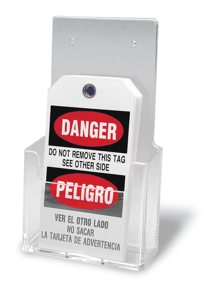 Brady Clear Plastic Tag Holder: Industrial Lockout Tagout ...