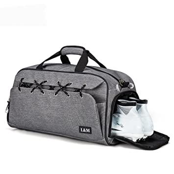 BLUBOON Sports Gym Bag with Shoe Compartment Water Resistant Holdall Travel  Duffel Bag for Men and 209423e1a3e55