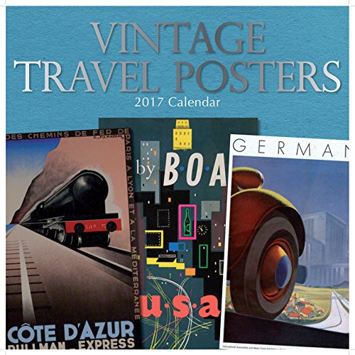 Calendar Vintage Travel Posters : Colorful vintage travel posters monthly wall calendar