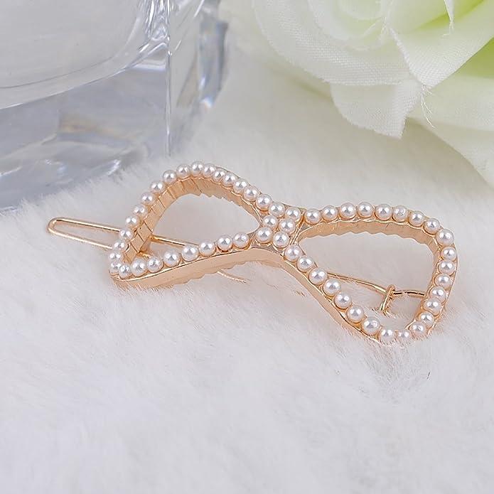 Sticks perla de cristal joyería Noble Mujeres Flor Horquillas para el pelo  corazón lazo hojas pavo real pasador para pelo banda accesorios  Amazon.es   ... bb55bc7b99c8