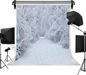 Kate 5x7ft/1.5m(W) x2.2m(H) Holiday Winter Backdrop Frozen Snow Background Snowfield Photo Backdrops Photography Studio Props
