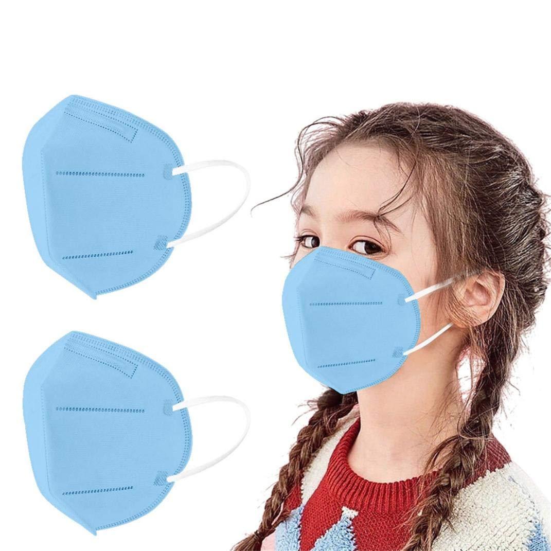 50 Piezas Niños_Protección Desechable Transpirables,5 Capas,>96%, Prueba Elástico para Los Oídos,infantil Cómodo para Actividades al Aire Libre, Escuela, Fiesta (B) (G)