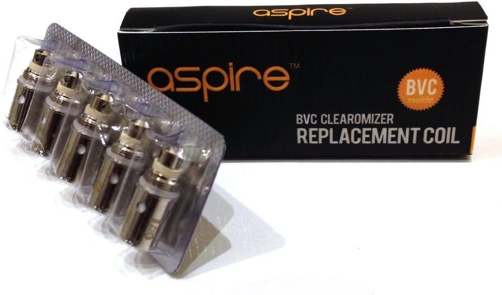 Aspire Bobinas | Nuevo diseño Aspire BVC Bobinas para ET-S, Vivi Nova, CE5 & K1 (5x 1.6ohm BVC Bobinas)