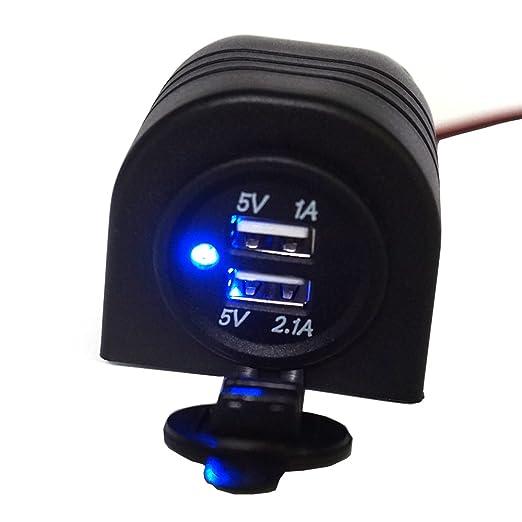 3 opinioni per linchview presa accendisigari 3.1a LED blu con mantello guscio incasso USB