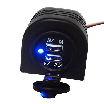 Linchview Encendedor de cigarrillos 3.1 A Azul LED con capa ...