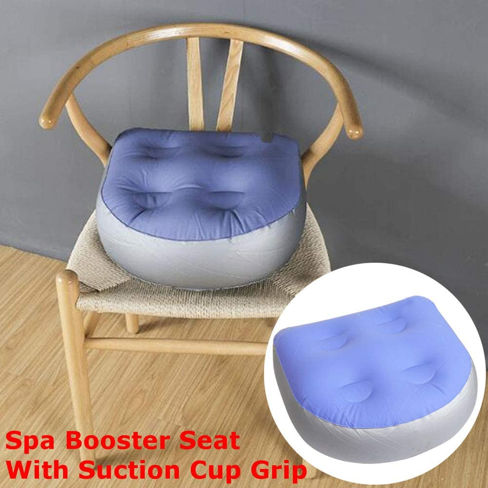 Fitted with Net,Waterproof and Non-Slip TCBH Inflatable Cushion,SPA and Hot Tub Booster Seat,Inflatable Seat Cushion with Suction Cups