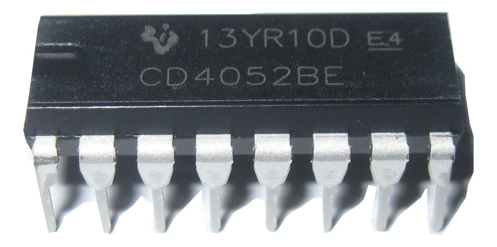 IC, MUX/DEMUX 4CH, 4052 CD4052BE By TEXAS INSTRUMENTS CD4052BE-TEXAS INSTRUMENTS A-1150