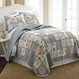 French Impression Abbi 100 Cotton Pre-Washed Reversible 3 piece Quilt Set 3 Piece Queen