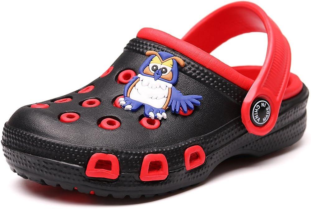 LOULAN Toddler Little Kids Clogs Slippers Cartoon Sandals Girls Boys Clogs Slide Lightweight Garden Shoes Slip-on Beach Pool Shower Slippers
