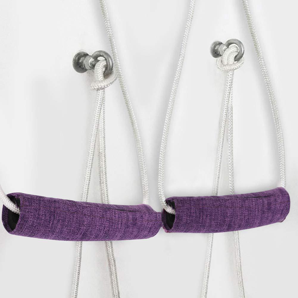 Alomejor Cuerda de Yoga 17 mm CVC Durable Yoga Entrenamiento Auxiliar Cuerda de Pared Deporte Cuerda Bolsa Correas de Brazo para Equipo de Ejercicio al Aire Libre