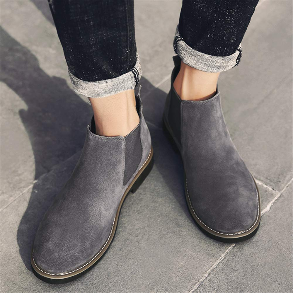 2d2259181d52b ... YUBUKE Men s Casual Chelsea Ankle Boots Autumn and Winter Shoes Shoes  Shoes B07GWG6PMP Chelsea 504548