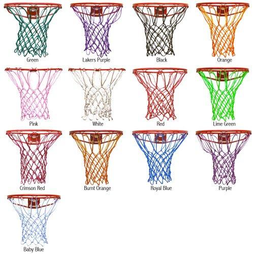 Krazy Netz Basketball Net, Baby Blue Colored Basketballs