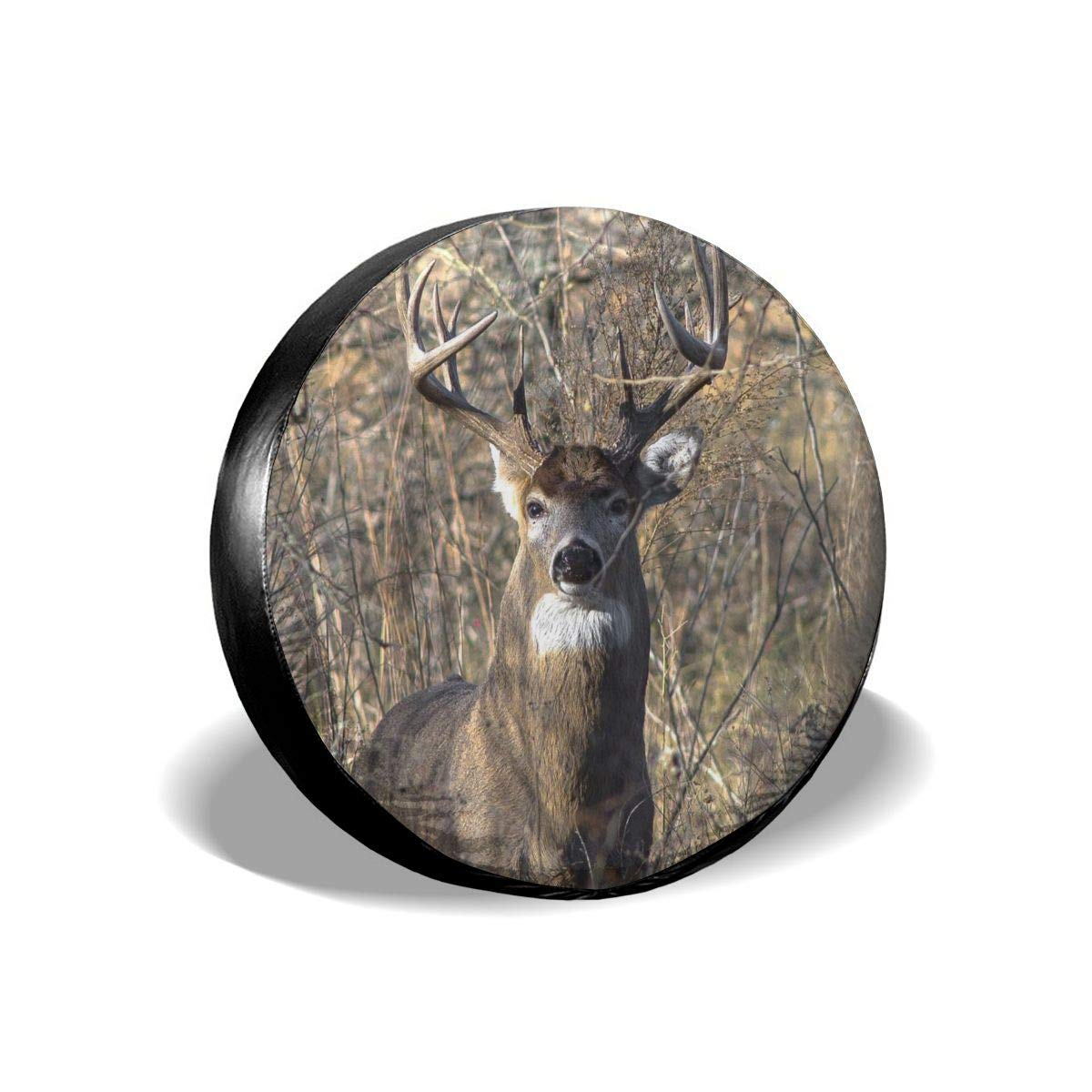 RV Trailer SUV and Many Vehicle Gulong~a Whitetail Deer Tire Cover Polyester Waterproof Dust-Proof Universal Spare Wheel Tire Cover Fit for Jeep