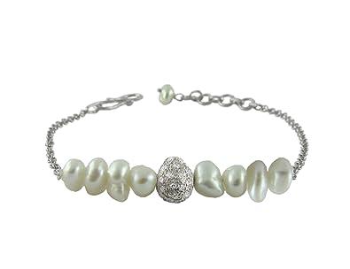 Buy Aastha Jain Pearl Sterling Silver Bracelet For Women Online At