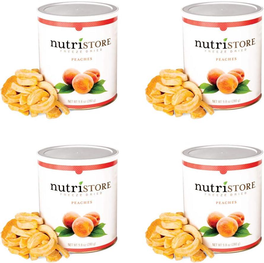 Nutristore Freeze Dried Peaches | Perfect Healthy Snack | Emergency Survival Bulk Food Storage | Amazing Taste & Quality | 25 Year Shelf Life