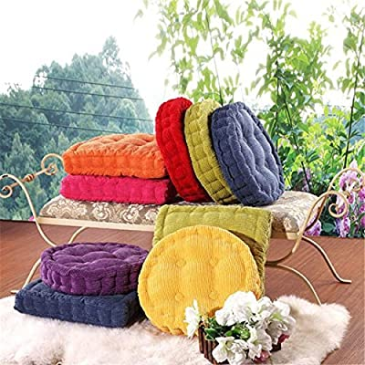 Teanfa Soft Round Thickened Fiber Seat Cushion Chunky Home Sofa Office Chair Floor Pillow