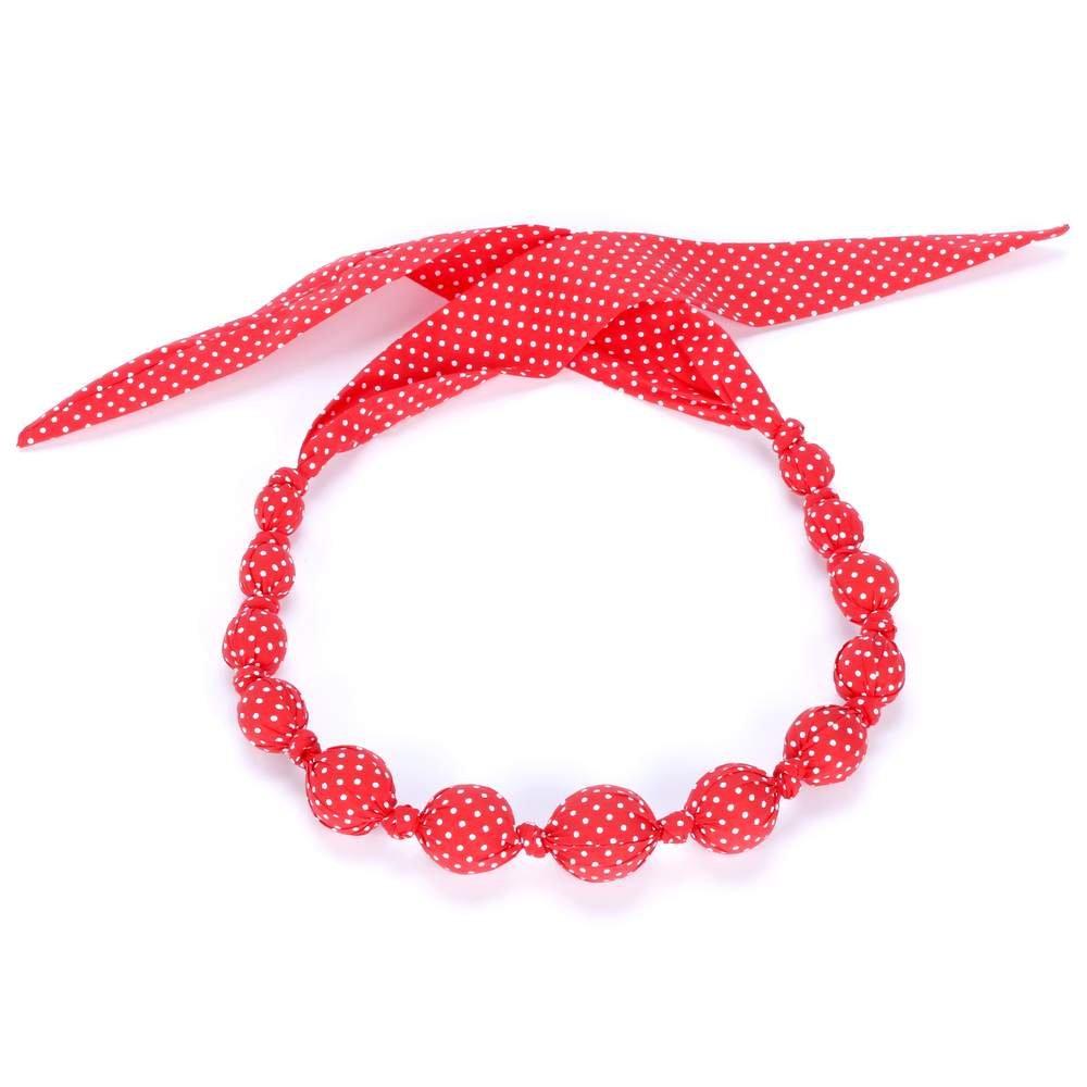 Peppercorn Kids Girls' Sprinkles Loveable Necklace, Poppy Red